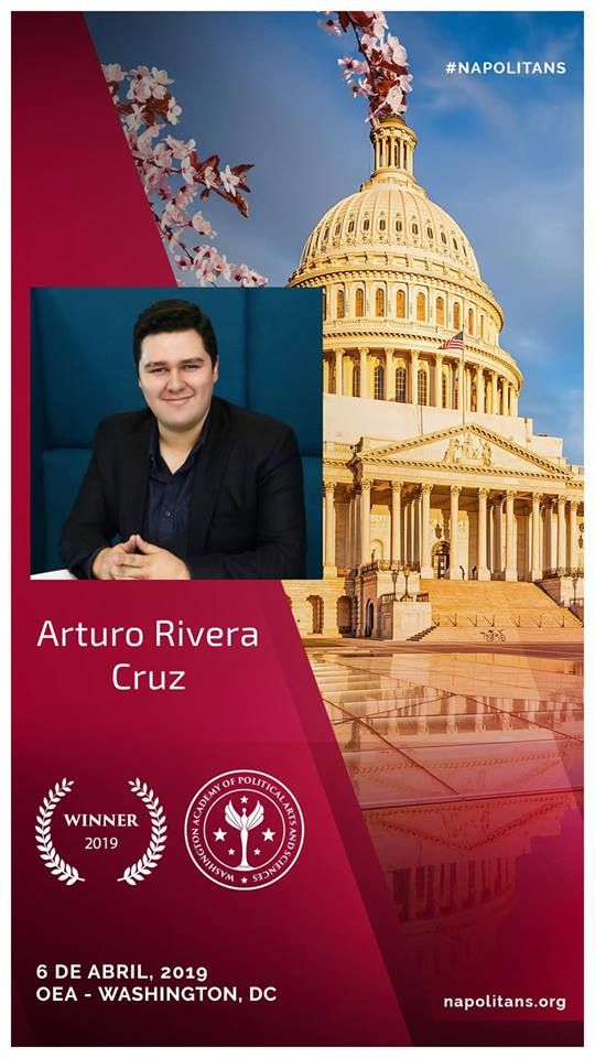 Arturo Rivera Cruz, Joven Hidalguense ganador del Youth Leadership Award en Washington, DC.