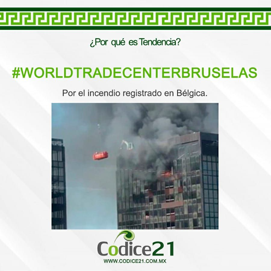 En la torre del World Trade Center (WTC), ubicada en Boulevard du Roi Albert II, en el distrito norte de Bruselas, se registró un incendio alrededor de las 15:45 horas.