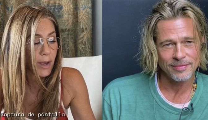 #Video El reencuentro de Brad Pitt y Jennifer Aniston