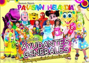 SOLICITO: AYUDANTES EN GENERAL PARA EMPLEO DE FINES DE SEMANA.   ¡Hola! Si eres dinámico y deseas trabajar los fines de semana, te invitamos a unirte a nuestro Equipo de Trabajo.   Actividades Sencillas: Botarguero, Ayudante de Payasito, Maquillista Infantil, Globoflexia, Princesas Disney,