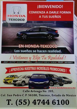 Jesús Zarza Jaramillo. Asesor de Ventas HONDA Texcoco jexuzzj@hotmail.com