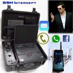 Equipos de ultima generacion para espionaje de celulares, Modelos compactos portatiles y modelos de mayor poder tactico, se operan desde laptop, tablet o PC, interceptan y graban llamadas, mensajes de texto, Chat, whatsapp y redes sociales, ubicacion del celular por