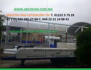 RENTA DE MAQUINA SUPER SPAN PARA ROLADOS DE ARCOTECHOS, TECHOS EN ARCO, CURVOTECHOS, TECHOS EN ARCO. VENTA DE LAMINA ROLADA!!  VISITA NUESTRA PAGINA YA! www.arcosum.com.mx 01 222 5 73 29 61 - 01 222 295 27 06 al WHATSAPP 044 22 21 14 88