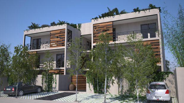 Looltum Apartments Departamentos de 1 y 2 habitaciones, estacionamiento privado y un espacio común con palapa, bbq, baños y alberca en el jardín.  Para las Residencias del Penthouse Terraza Privada con Palapa, Roftop y Asador.  Todo el conjunto ofrece a