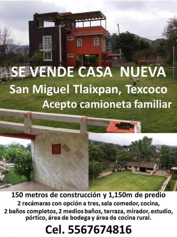 SE VENDE CASA EN TLAIXPAN, TEXCOCO. CEL. 556767 INFORMACION EN LA IMAGEN