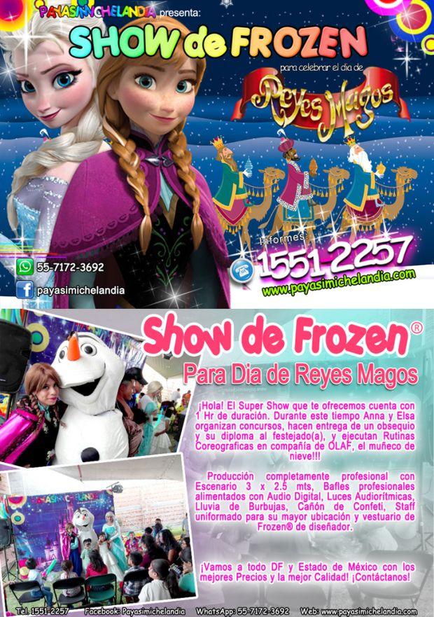 ☆☆☆ Payasimichelandia® presenta: Show de Frozen® para Eventos Infantiles - DF/EdoMex ☆☆☆    ¡Hola! Te ofrecemos la presentación de los divertidos personajes de la película Frozen: Elsa, Anna & Olaf para Celebrar contigo y tus Pekes uno de los días mas