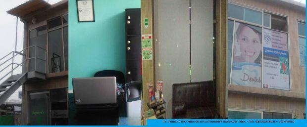 Se RENTA Consultorio en CLINICA INTEGRAL TEXCOCO  (av palmas #100, La Trinidad Texcoco).  Es un espacio de uso COMPARTIDO se renta el Turno Matutino , Hasta las 14:30hrs. Uso para MÉDICOS  o FISIOTERAPEUTAS. Contamos con estacionamiento y caseta de vigilancia incluido