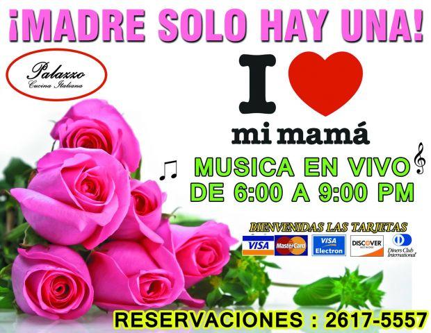 VEN A FESTEJAR EL 10 DE MAYO CON NOSOTROS!! MENÚ ESPECIAL DE 4 TIEMPOS Y COCKTAIL DE BIENVENIDA PARA TODAS LAS MADRES!!  DE IGUAL MANERA SE OFRECE SERVICIO A LA CARTA. MÚSICA EN VIVO DE 4pm a 8pm. EVENTO