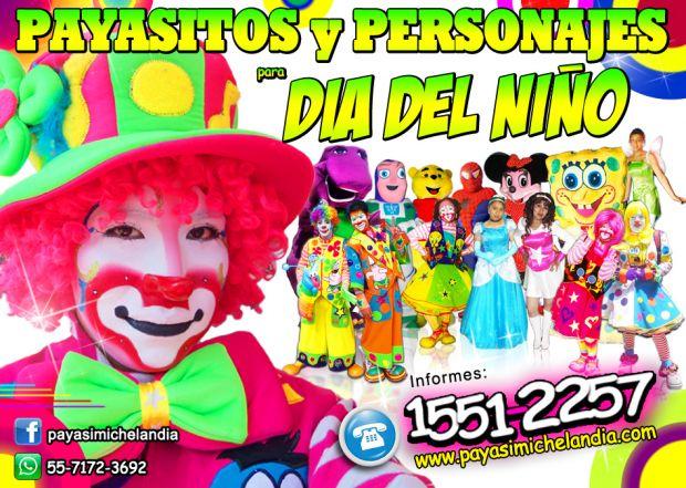 ☆☆☆ PAYASOS Y PERSONAJES PARA FIESTAS INFANTILES - DF y Estado de México ☆☆☆    ¡Hola! Te ofrecemos con gusto los Servicios Profesionales de los Payasos y Personajes mas lindos para amenizar tu Fiesta de Cumpleaños ó Evento Especial.   Pregunta por