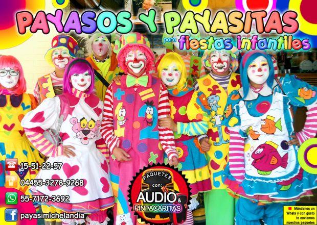 ☆ ☆ ☆ PAYASOS y PAYASITAS PARA FIESTAS INFANTILES - CDMx/EdoMex ☆ ☆ ☆    ¡Hola! El Super Show que te Ofrecemos tiene 1 Hr de duración, tiempo durante el cual contamos chistes y adivinanzas, realizamos rutinas y Sketches cómicos, hacemos