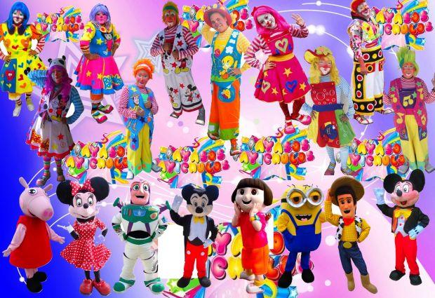 PAYASOS Y PAYASITAS CON BOTARGAS PARA FIESTAS Y ANIMACIONES EN EL DF Y ESTADO DE MÉXICO  EN PAYICHULOS CONTAMOS CON:  **PAYASOS Y PAYASITAS  **SHOW MUSICALIZADO **BOTARGAS :Elza de Frozen,Peppa pig,Minnions, Dora la exploradora,Woody, Buzz light year, Mickey y Minnie mouse. **PRINCESAS: Blanca nieves, Cenicienta