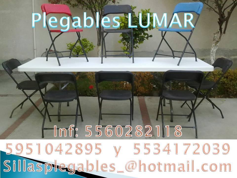 Venta de sillas y mesas plegables somos fabricantes for Sillas y mesas plegables