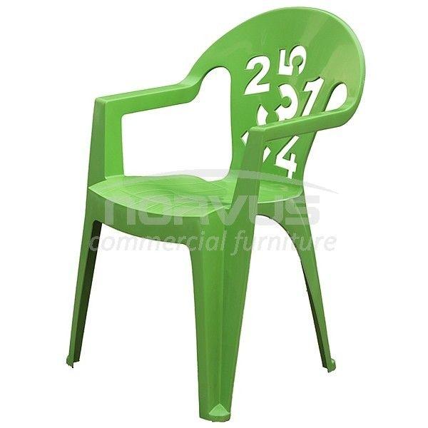 Vendo sillas de pl stico con coderas y dise o de n meros for Sillas plastico diseno