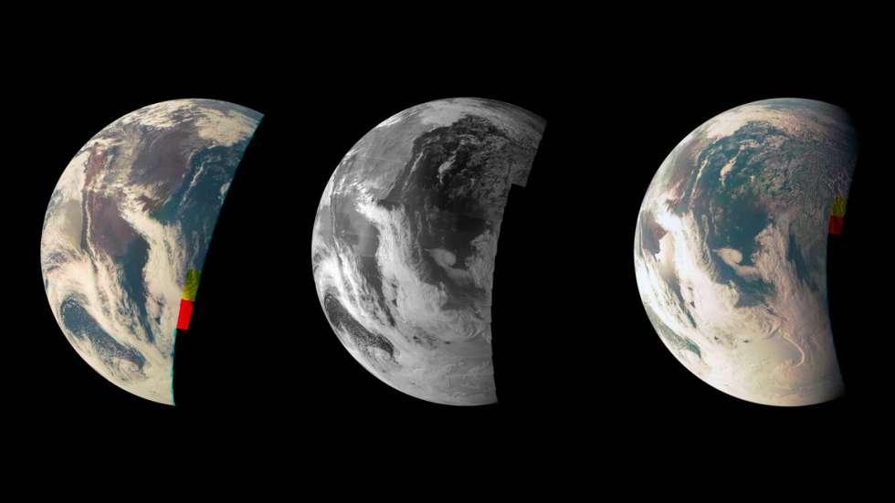 La Tierra vista por Juno