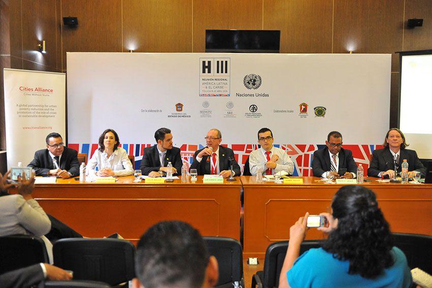 Se realiza en la legislatura mexiquense, parte del 1er día de trabajos de la reunión regional rumbo a HÁBITAT III