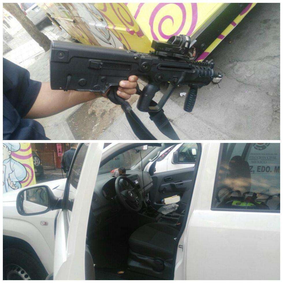 Ejecutan a un Ministerio Público Federal y lesionan a un efectivo de la PGR en Los Reyes La Paz, Estado de México