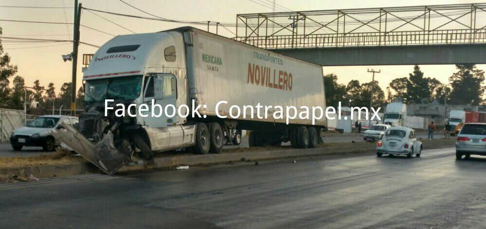 Se registra accidente en la Texcoco-Calpulalpan