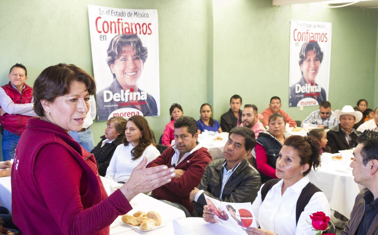 Delfina Gómez destaca fortalecimiento de liderazgos con Morena