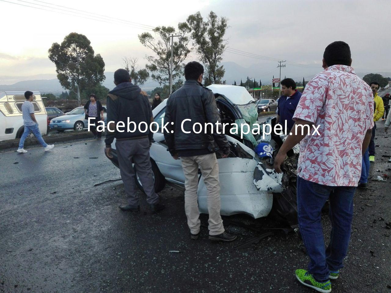 Choque deja dos muertos y dos lesionados en San Bernardino, Texcoco