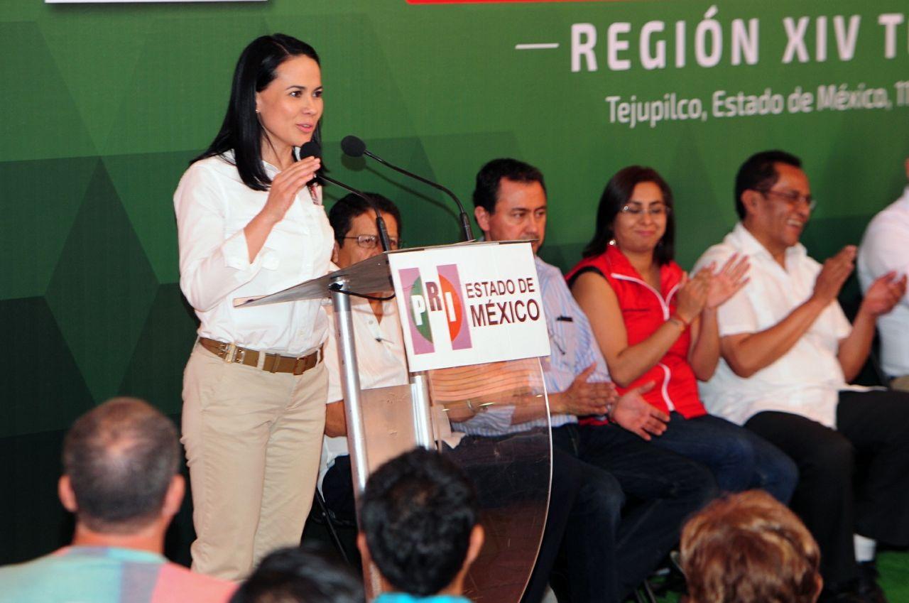 El PRI está unido para defender a los migrantes mexiquenses: Alejandra Del Moral
