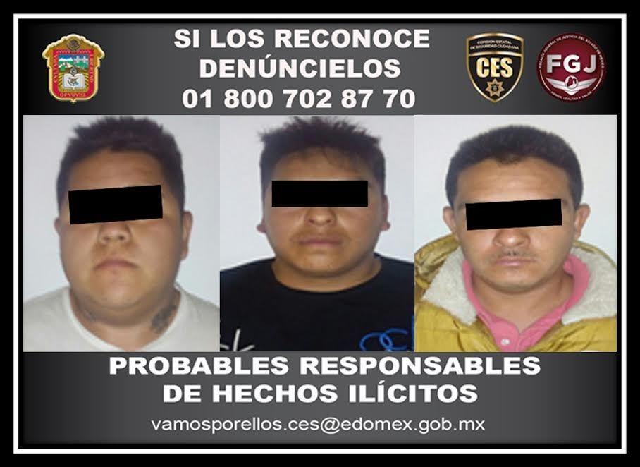 Detienen a cuatro sujetos por el presunto delito de robo con violencia