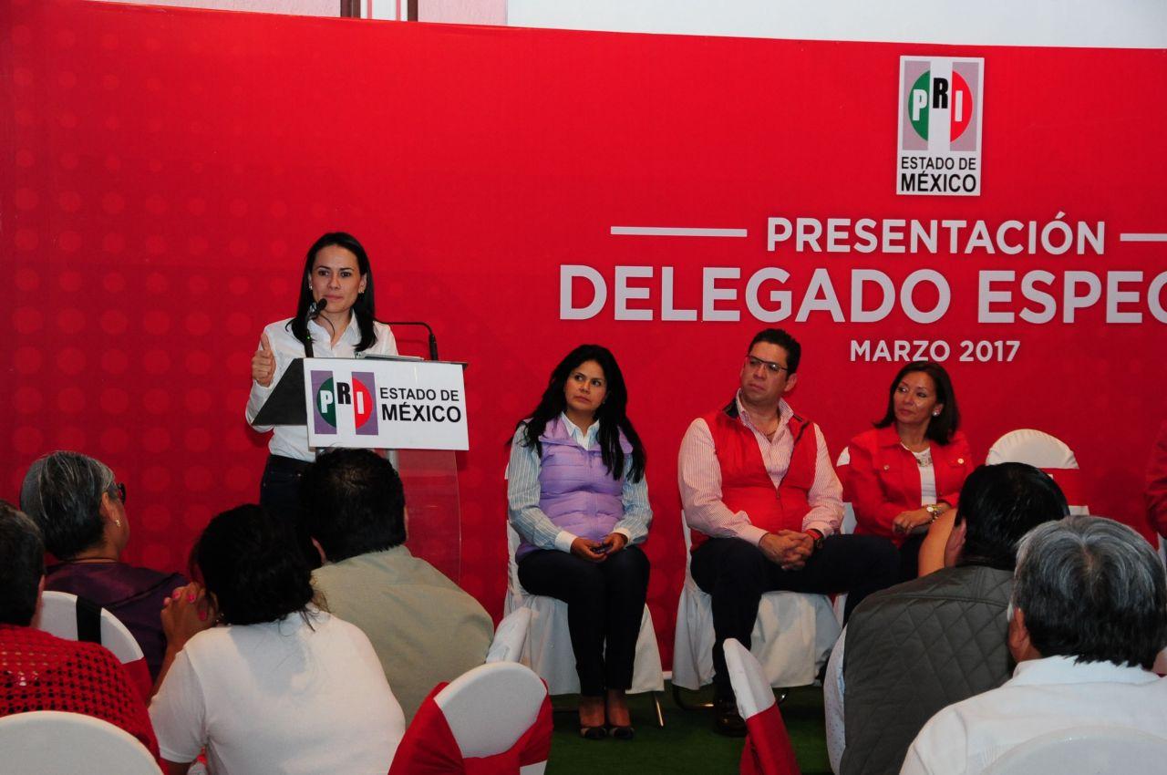 La riqueza del PRI está en el trabajo y compromiso de servicio de su militancia: Alejandra Del Moral