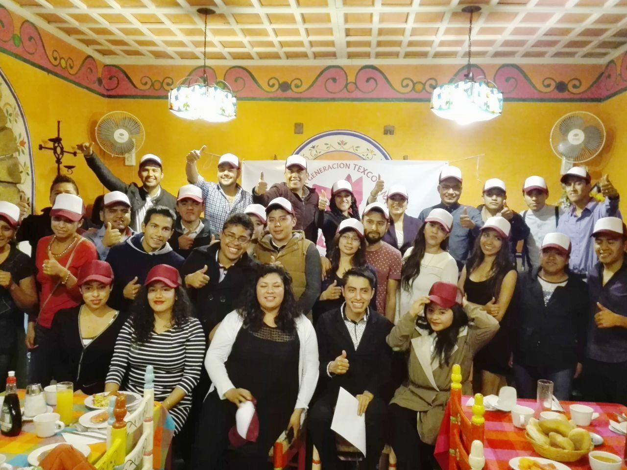 Surge grupo político 'Nueva Generación Texcocana';  universitarios respaldan proyecto de Delfina Gómez
