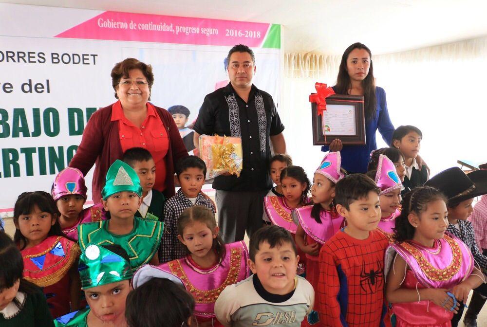 Dignifican jardín de niños del barrio Artesanos en Chimalhuacán