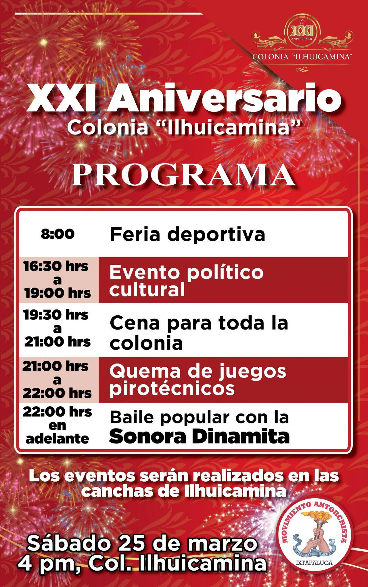 Anuncian  el  XXV  aniversario  de   Ilhuicamina en Ixtapaluca