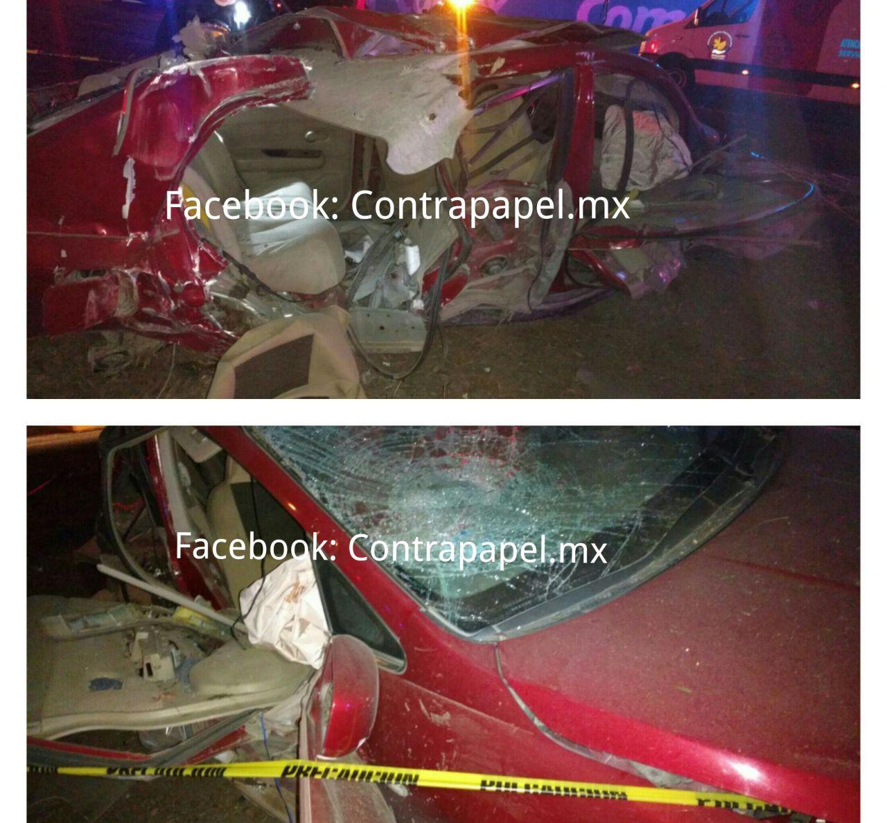 Por exceso de velocidad y estado de ebriedad dos jóvenes pierden la vida frente a Puerta Texcoco