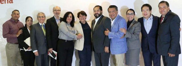 Se presenta equipo de campaña de Delfina Gómez