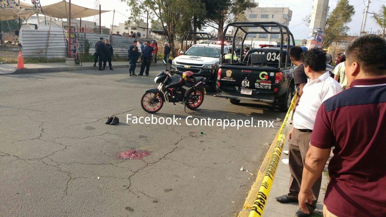 Fallecen dos supuestos asaltantes tras enfrentamiento con policías en Chiconcuac