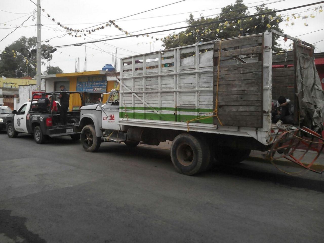 Camión recolector de basura atropella y causa la muerte a un vecino en Ixtapaluca