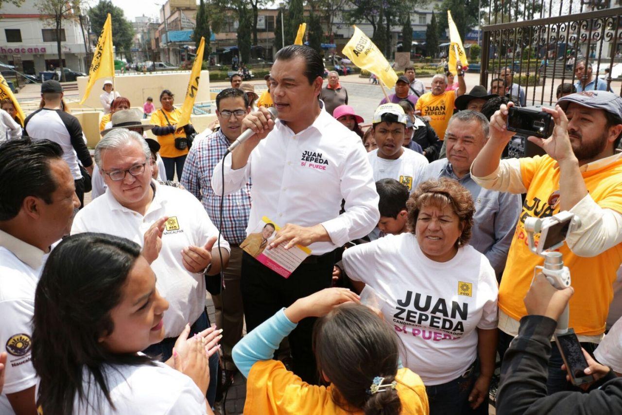 Juan Zepeda amplía reto a Delfina Gómez; cancelación de la candidatura de Isidro Pastor no afecta la elección