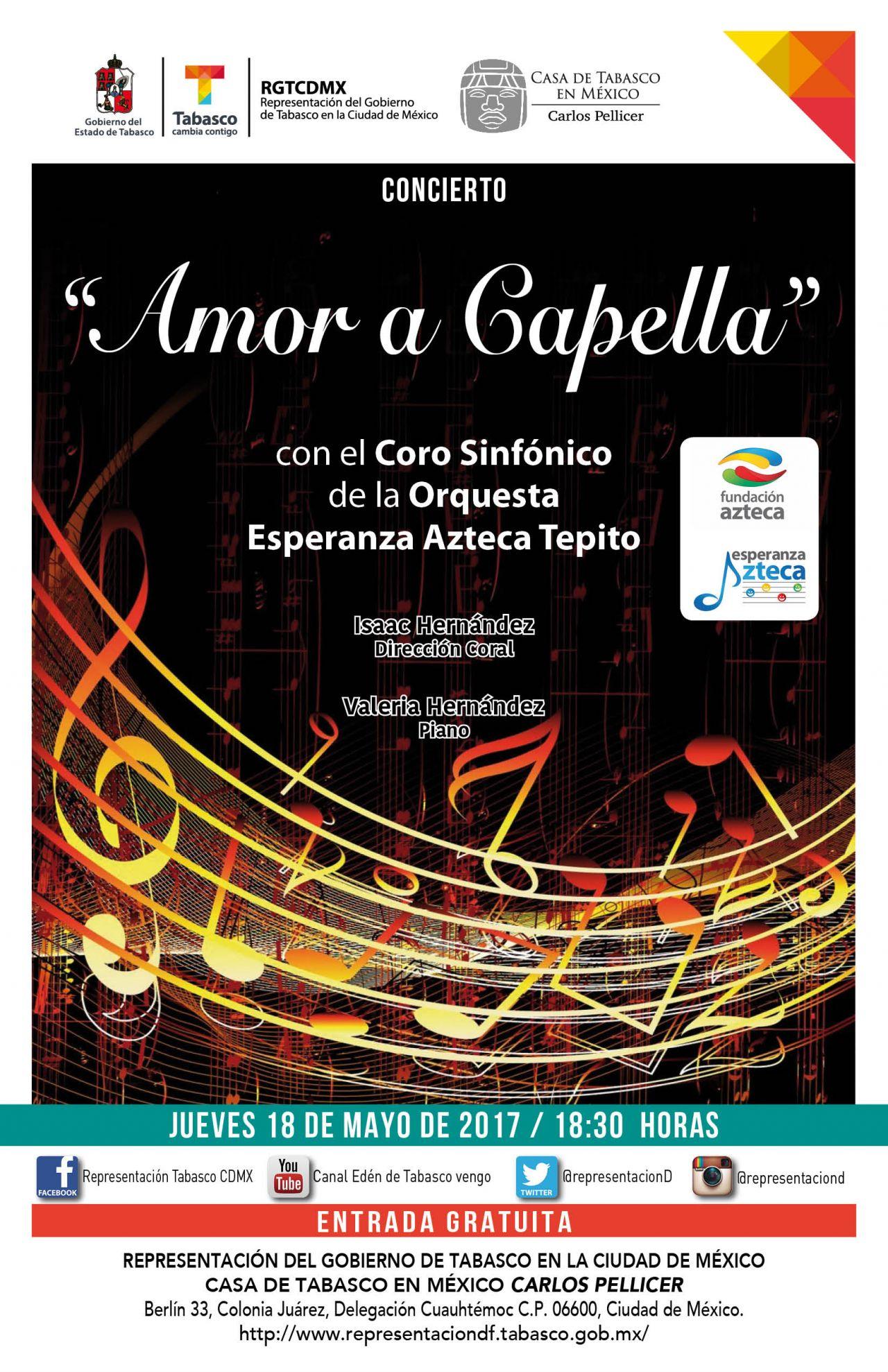 Amor a Capella, concierto sinfónico por ubicar