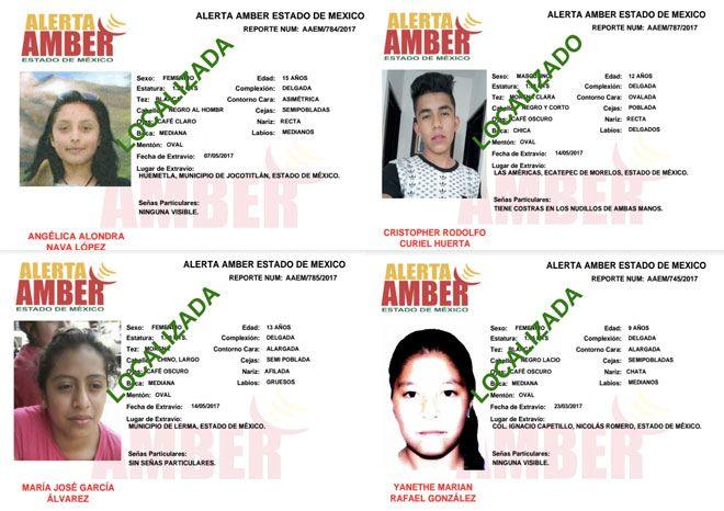Localizan a menor desaparecido en Texcoco y dos más en Edomex
