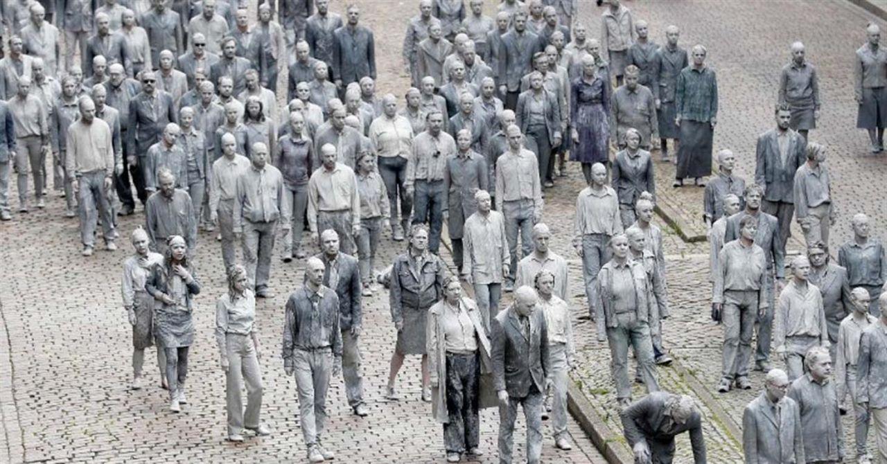"""Zombies"" protestan contra la cumbre del G20 en Hamburgo"