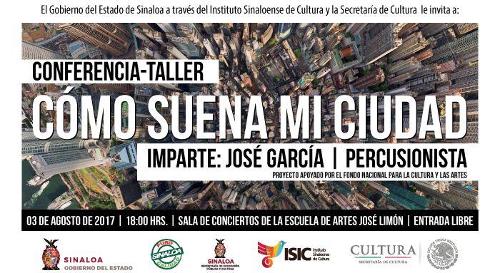 Pepe García dictará la conferencia ¿Cómo suena mi ciudad?, este jueves