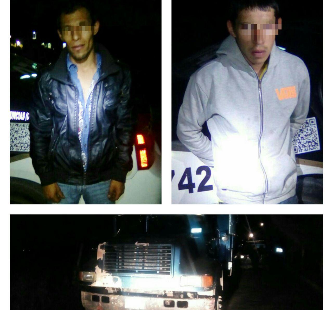 Aseguran toma clandestina y detienen a dos presuntos 'huachicoleros' en Tepetlaoxtoc