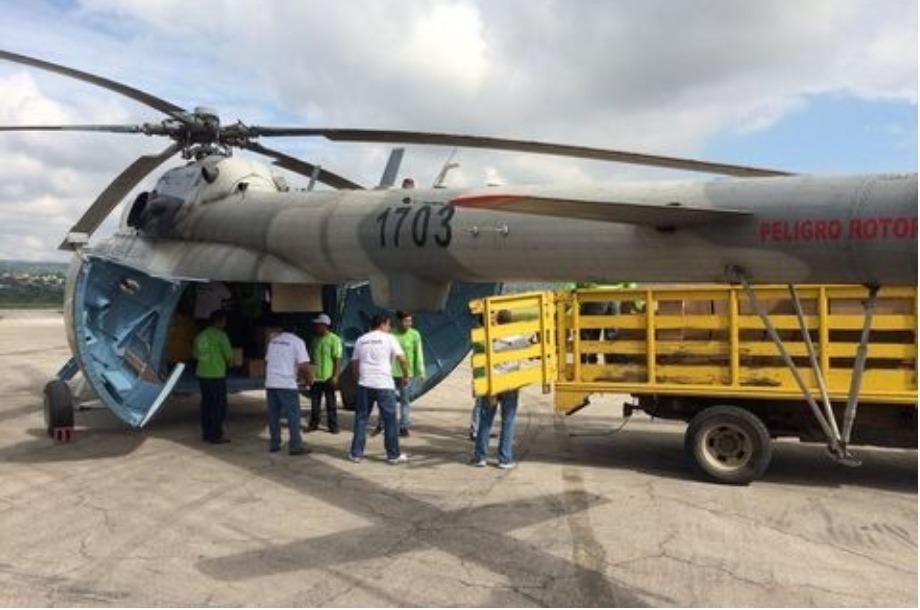 Cae helicóptero de Sedena con víveres en Chiapas