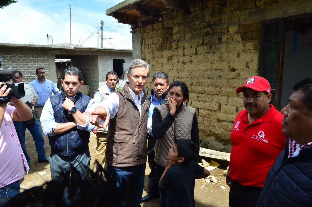 Alfredo Del Mazo solicitará declaración de desastre para 12  municipios del Edoméx