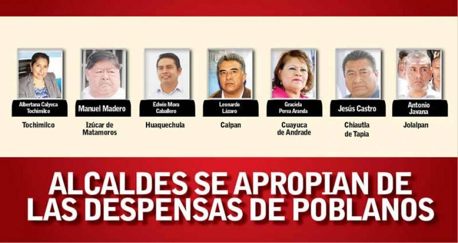 Lo que faltaba 7 alcaldes poblanos resultan vivales retienen víveres a sus conciudadanos