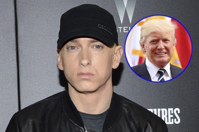¡De escándalo! Eminem arremete contra Donald Trump