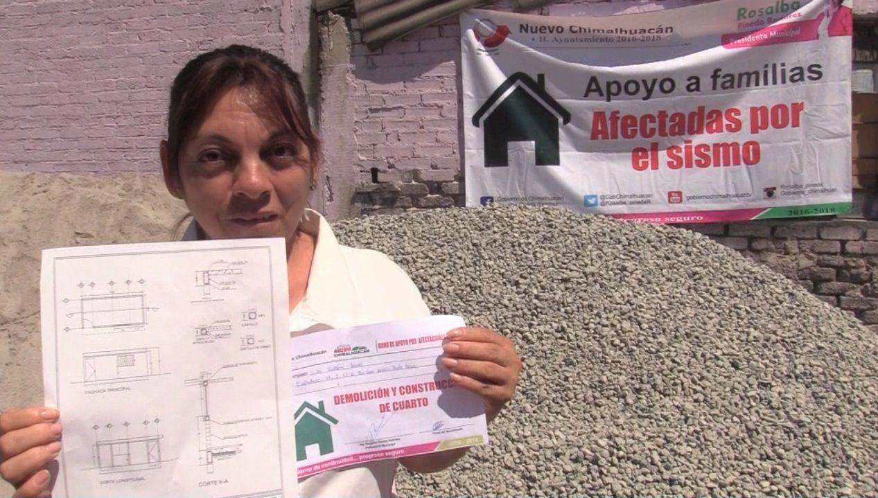 Continuamos reconstruyendo viviendas afectadas por sismo: Rosalba Pineda