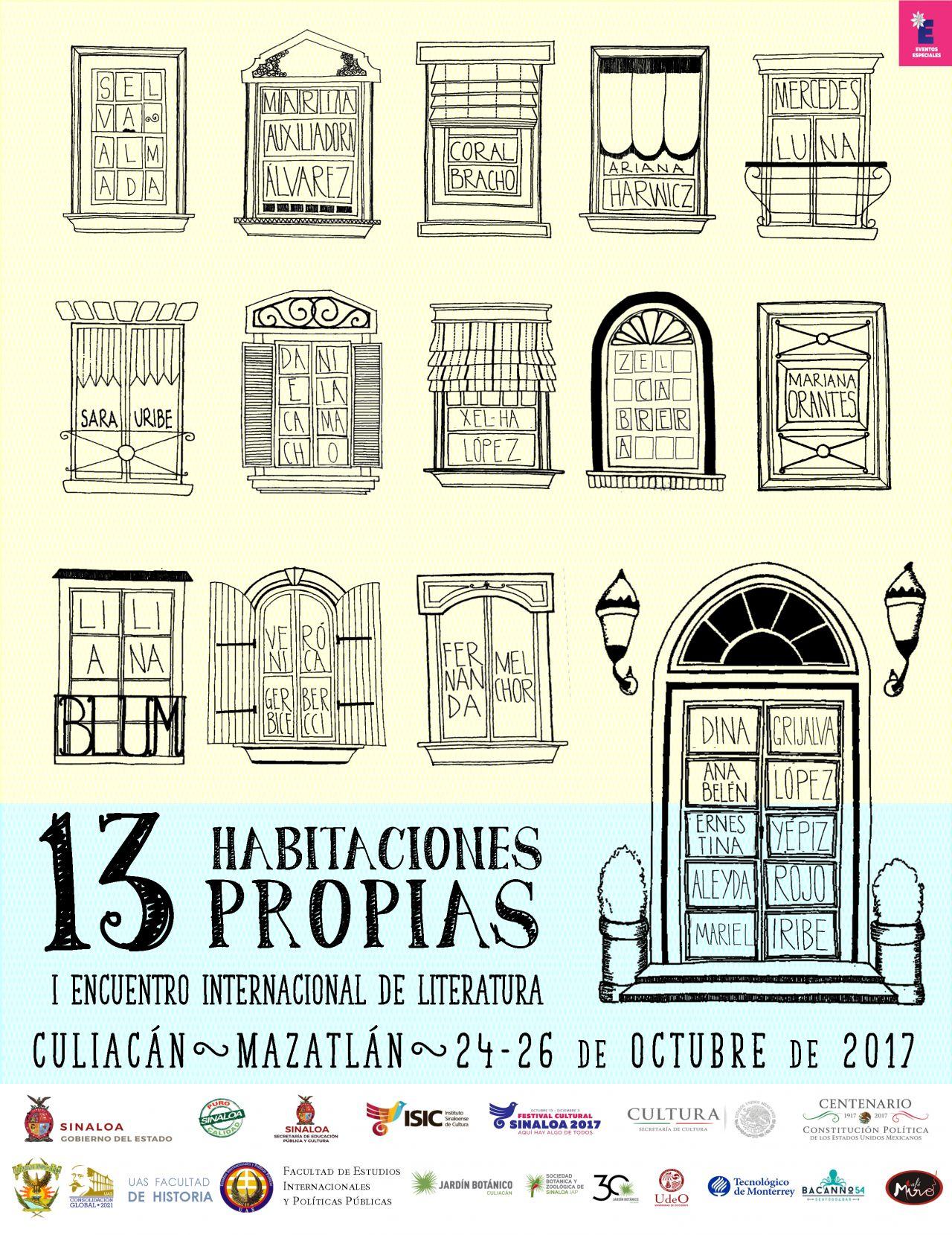 13 HABITACIONES PROPIAS primer encuentro internacional de literatura.