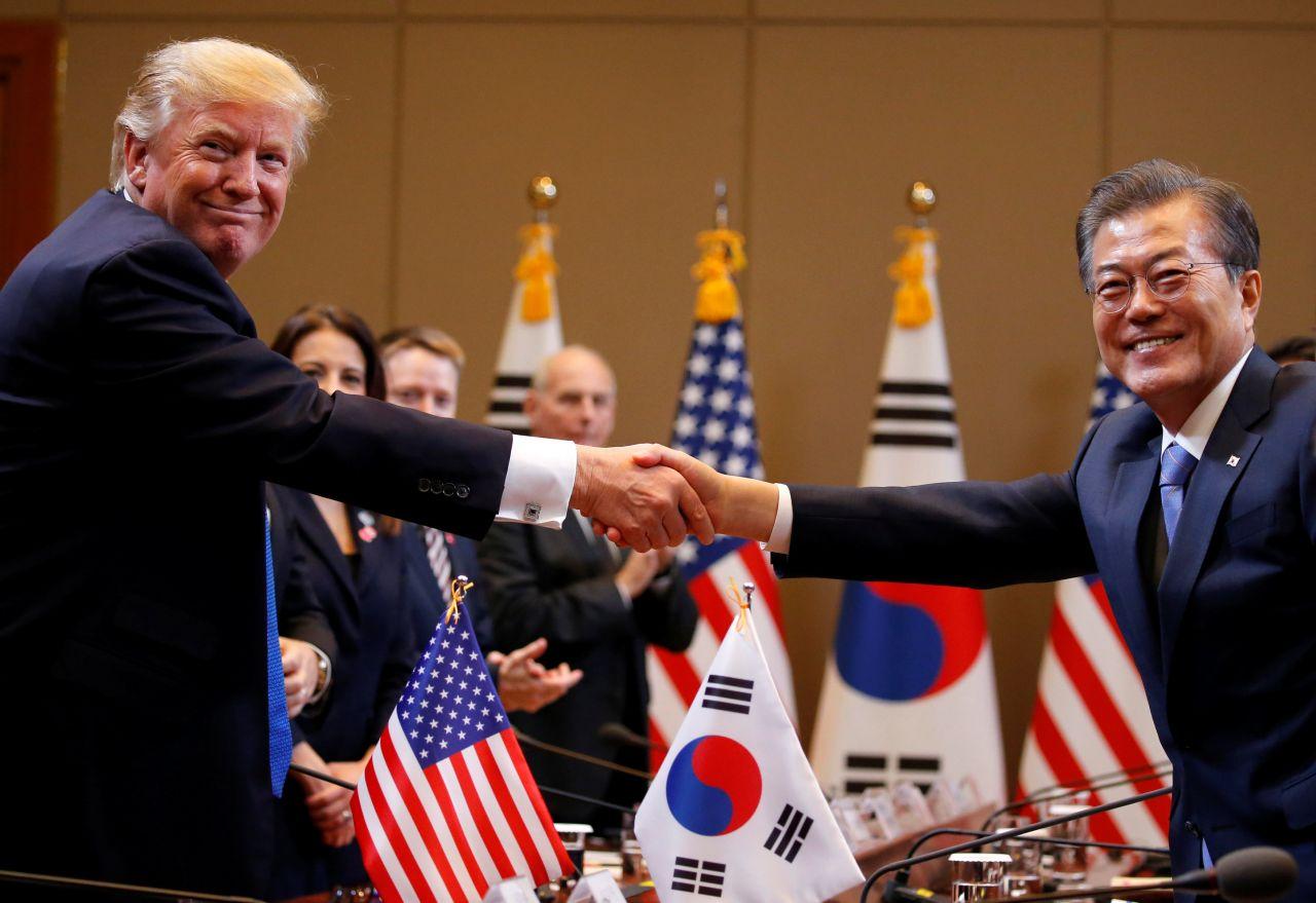 Trump afirma que, si fuera necesario, EEUU usará su fuerza militar contra Corea del Norte