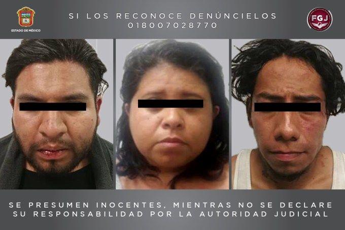 Liberan a menor secuestrada y detienen a tres presuntos responsables en Edomex