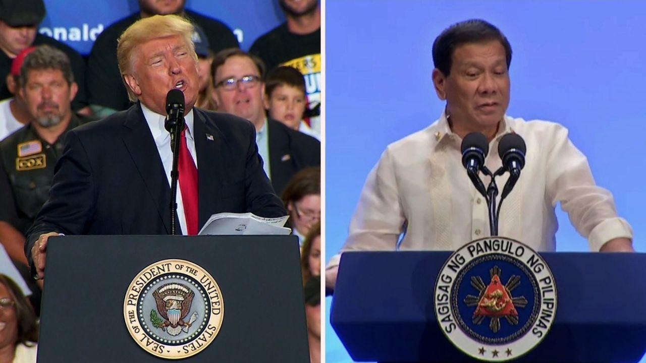 Donald Trump y Rodrigo Duterte dialogan sobre guerra contra el terrorismo.