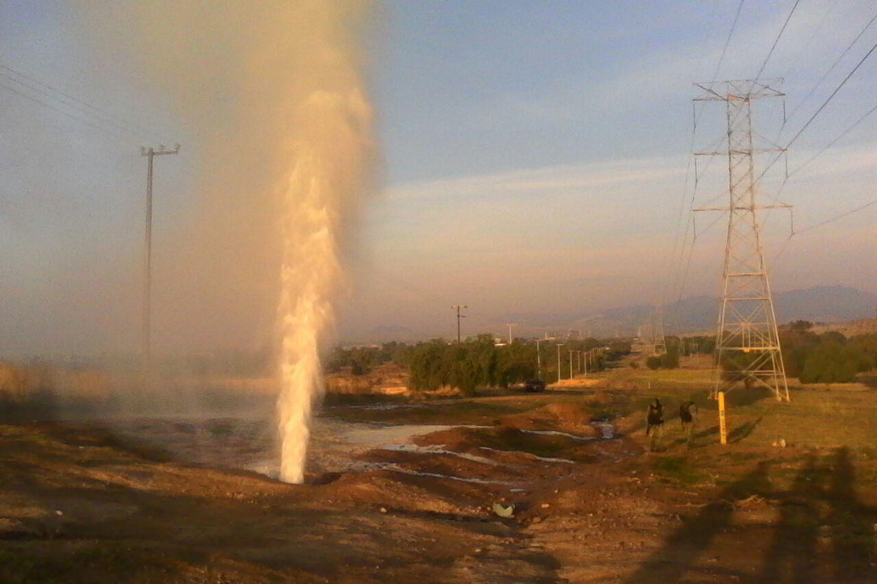 Fuga de gas LP por ordeña de ducto en San Agustín Tlaxco