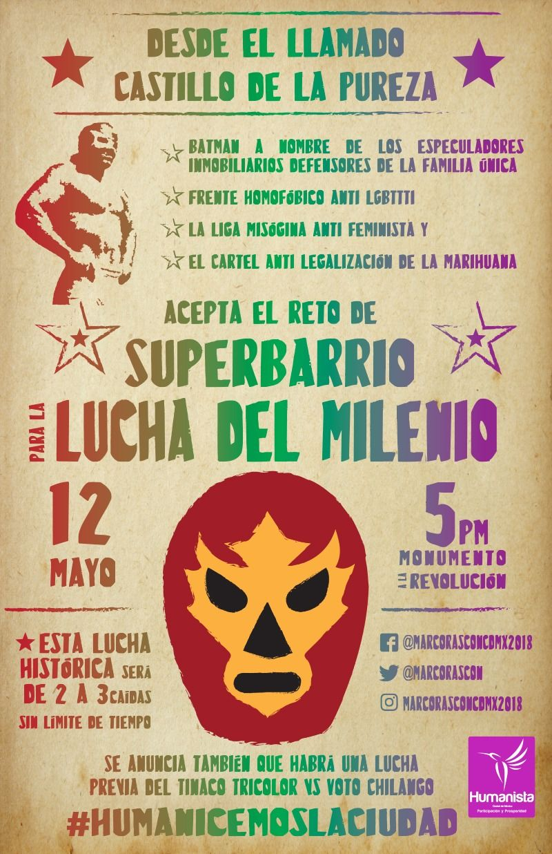 "Festín popular la ""Lucha del Milenio"",  Superbarrio vs Batman"
